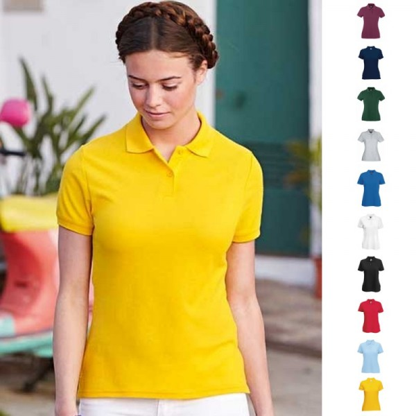 Lady Fit Damen Frau Poloshirt Polo 65/35 Shirt Fruit of the loom XS S M L XL XXL