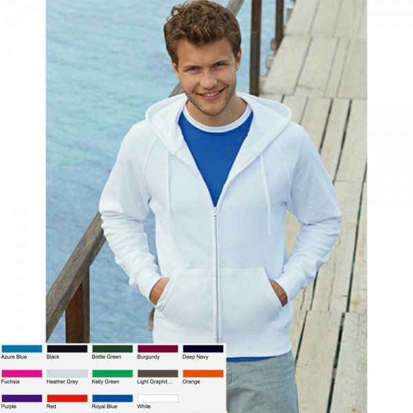 Herren Sweat Jacke Sweatjacke Fruit of the loom Kapuzenjacke Lightweight