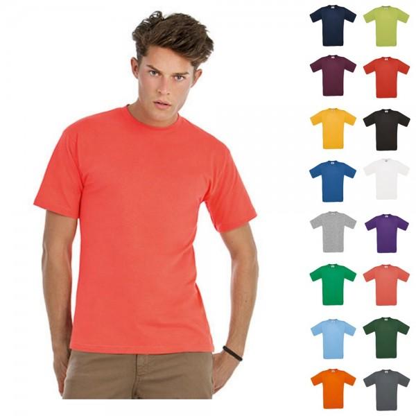 Herren Mann Classic T-Shirt B&C Kurzarm Shirt Exact 150 kurze Ärmel Größe S-4XL