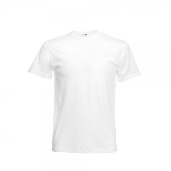 10 x T-Shirt Shirts Herren Mann Kurzarm Fruit of the loom Full Cut Original weis