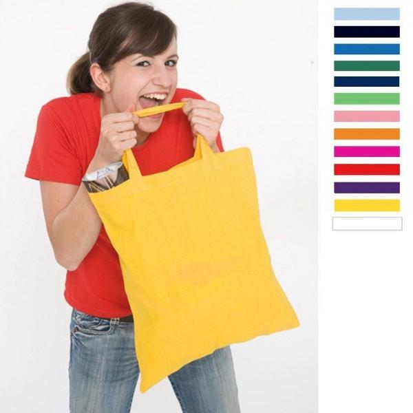 Baumwolltasche Tasche Baumwolle Stoffbeutel Jutebeutel 38 x 42 cm kurze Henkel