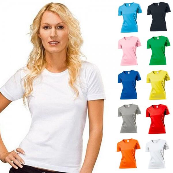 Lady Fit Damen Woman T-Shirt Classic Stedman Baumwolle S M L XL