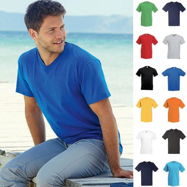 Herren Mann V-Neck V-Ausschnitt Valueweight Value T-Shirt Fruit of the loom