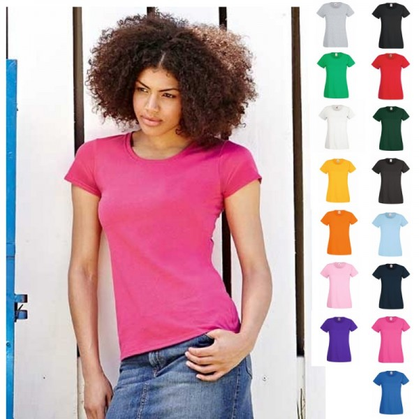 Lady Fit Damen Frau Woman Valueweight Value T-Shirt Shirts Fruit of the loom