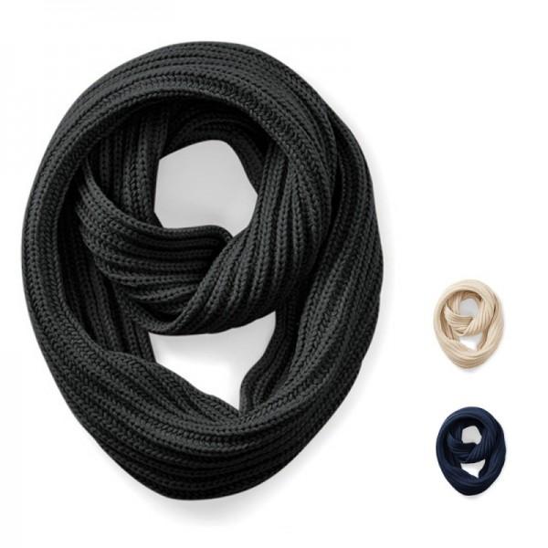 Beechfield - Deluxe Schal Strickschal Schlauchschal Deluxe Infinity Scarf