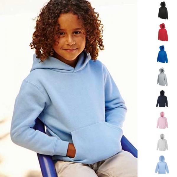Kinder Kapuzensweat Sweat Sweatshirt Fruit of the loom Kapuzensweatshirt 70/30