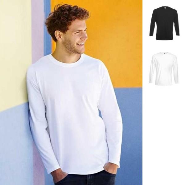Herren Super Premium Langarm Longsleeve Long Sleeve T-Shirt Fruit of the loom
