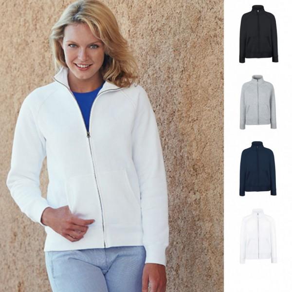 Lady Fit Damen Premium Sweatjacke Jacke Sweat Sweatshirt 70/30 Fruit of the loom