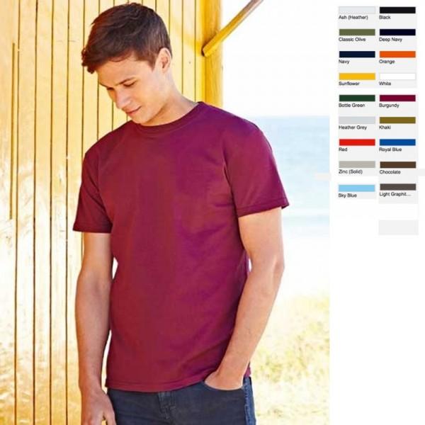 10 x Herren Mann Men T-Shirt Shirt Fruit of the loom Super Premium T 10er SET