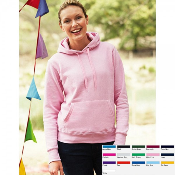 Lady Damen Pullover Sweatshirt Sweat Fruit of the loom Kapuzensweatshirt 80/20