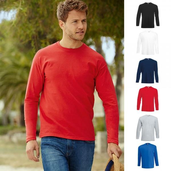 10 x Herren Mann Langarm 10er T-Shirt Valueweight Longsleeve Fruit of the loom