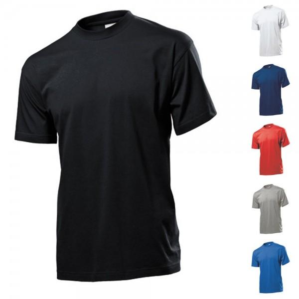 5 x Herren Mann Kurzarm Basic T-Shirt Shirts Stedman Classic T Größe XXXL 3XL
