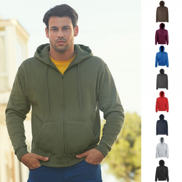 Herren Sweatshirt Hooded Sweatjacke Fruit of the loom Premium Kapuzenjacke 70/30