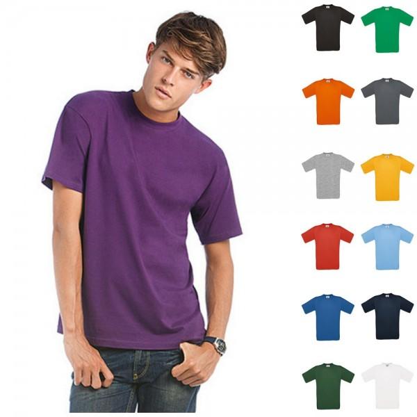Herren Mann Premium T-Shirt B&C Kurzarm Shirt Exact 190 kurze Ärmel Größe S-4XL