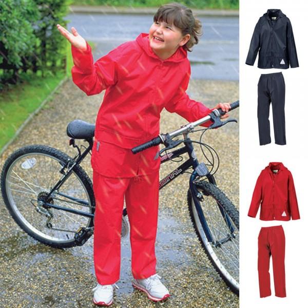 1a Kinder Schlechtwetter Wetterjacke Regenjacke Regenanzug Hose Jacke RESULT
