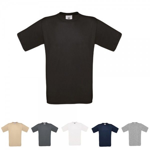 5x Herren Classic T-Shirt B&C Kurzarm Shirt Exact 150 kurze Ärmel Größe S-3XL