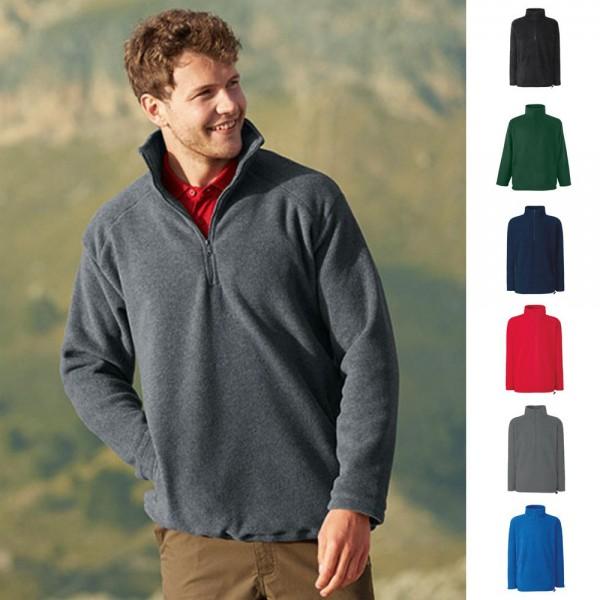 1a Herren Pullover Pulli Sweatshirt Fruit of the loom Half-Zip Fleece Sweat