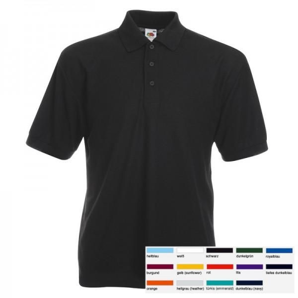 Herren Mann Poloshirt Piqué Polo Shirt Polohemd Fruit of the loom 65/35 S-3XL