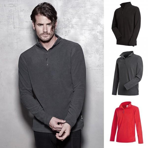 Herren Mann Stedman Pullover Pulli Half Zip Sweat Sweatshirt Shirt Active Fleece