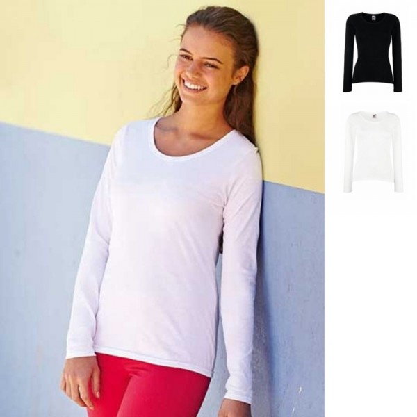 Lady Fit Damen Valueweight Value Long Sleeve Langarm T-Shirt Fruit of the loom