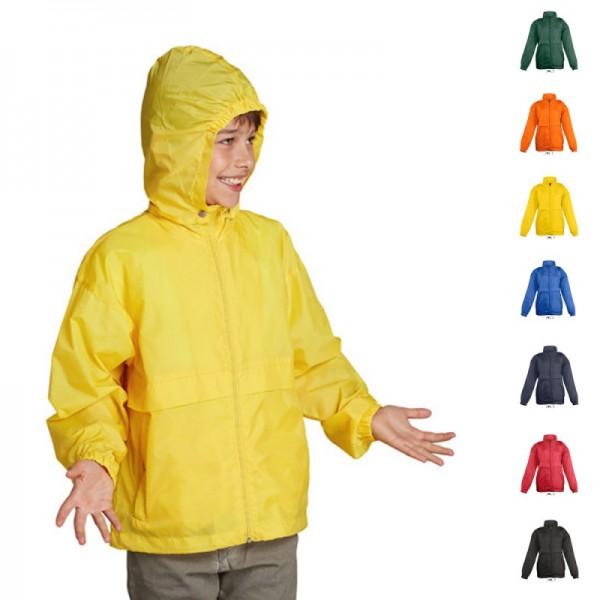 Kids Kinder Windbreaker Surf SOLS Regenjacke Jacke Wasserabweisend 7 Farben