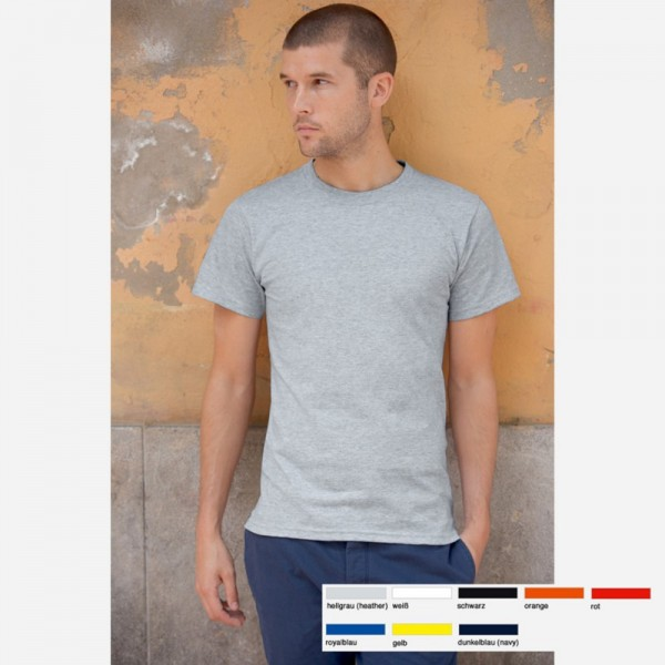 Herren Mann T-Shirt Shirts Fruit of the loom USA Heavy-T Cotton 8 Farben