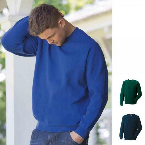 Herren Mann Sweatshirt Sweat Raglan 50/50 Rundhals Russel Jerzees 3XL 4XL