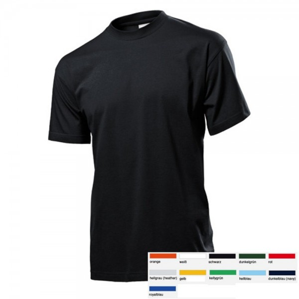 Herren Mann Kurzarm Basic T-Shirt Shirts Stedman Classic T Größe S-3XL ST2000
